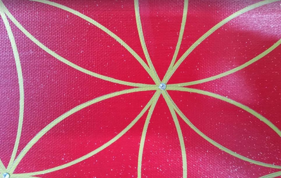 Blume des Lebens Symbol Kraftbilder Acryl handgemalte Unikate