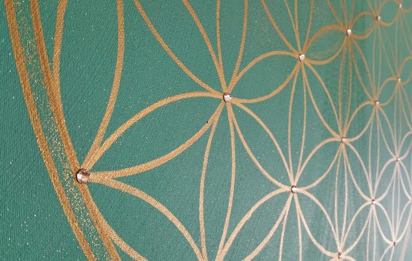 Blume des Lebens Kunst-Gemälde in Acryl auf Leinwand handgemalt