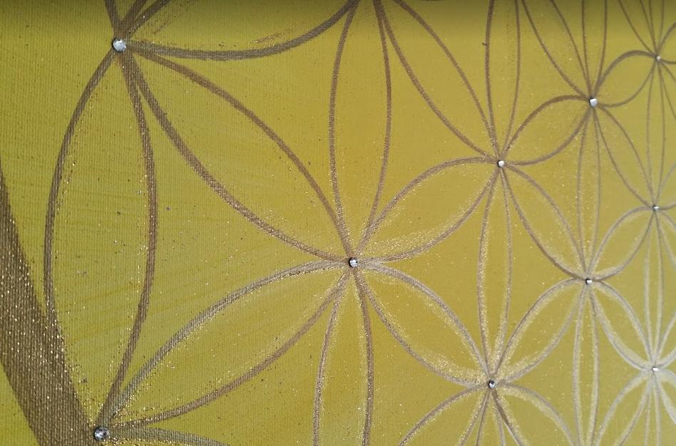 Blume des Lebens Symbol Heilbilder für die Seele in Acryl handgemalt