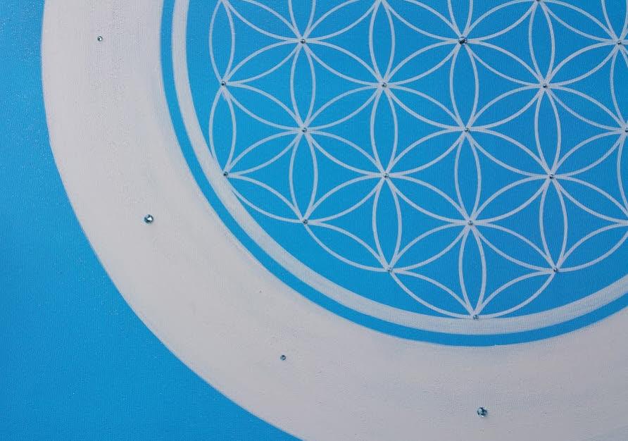 Blume des Lebens Leinwandbild Acryl handgemalte Unikate