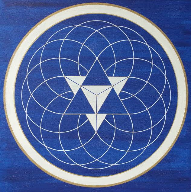 Genesis Symbol Energiebilder Acryl handgemalte Unikate